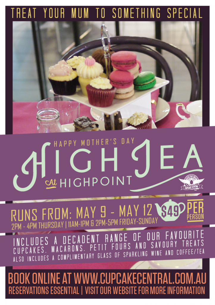 High Tea Cupcake Central Highpoint